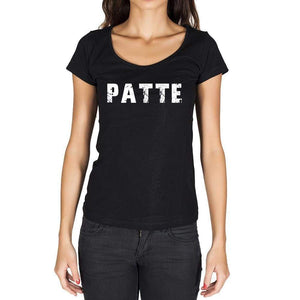 Patte French Dictionary Womens Short Sleeve Round Neck T-Shirt 00010 - Casual