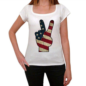 Peace Usa Womens Short Sleeve Round Neck T-Shirt 00111