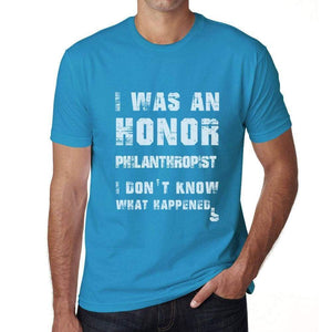 Philanthropist What Happened Blue Mens Short Sleeve Round Neck T-Shirt Gift T-Shirt 00322 - Blue / S - Casual