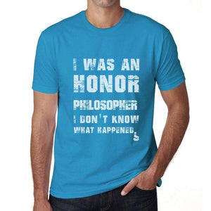 Philosopher What Happened Blue Mens Short Sleeve Round Neck T-Shirt Gift T-Shirt 00322 - Blue / S - Casual