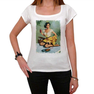 Pin-Up Picnic White Womens T-Shirt 100% Cotton 00212