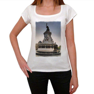 Place De La Republique Paris 1 Womens Short Sleeve Scoop Neck Tee 00171