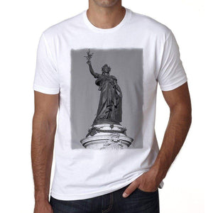 Place De La Republique Paris Mens Short Sleeve Round Neck T-Shirt 00170