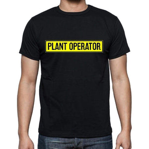 Plant Operator T Shirt Mens T-Shirt Occupation S Size Black Cotton - T-Shirt