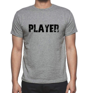 Player Grey Mens Short Sleeve Round Neck T-Shirt 00018 - Grey / S - Casual
