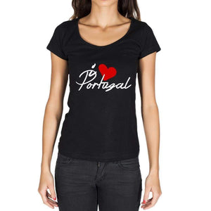 Portugal Womens Short Sleeve Round Neck T-Shirt - Casual