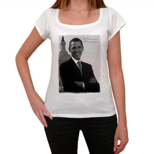 President Obama Womens Short Sleeve Round Neck T-Shirt 00111