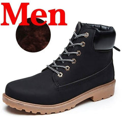 Winter Men Boots PU Outdoor Snow Ankle Boots Male Lace Up Anti-slip Booties British Sneakers Plus Size 46 Zapatos De Hombre-Shoes-Ultrabasic