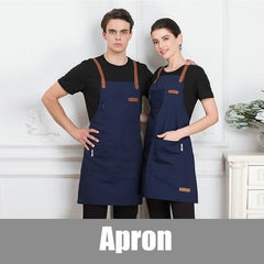 Unisex Fashion Chef Cook Kitchen Apron Coffee Shop Hairdresser Sleeveless Work Uniform Bib Work Clothing Antifouling Aprons-Apron-Ultrabasic