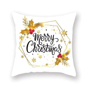 Christmas Decorative Pillowcases Polyester Merry Christmas Tree Deer Throw Pillow Case Cover New Year Pillowcase