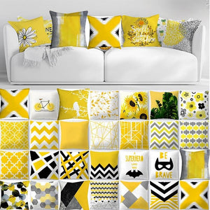 Pillow Cover Case Pillowcase Yellow geometric Pineapple Leaf Square Flax pillow Cushion Bed Home Fashion decoration