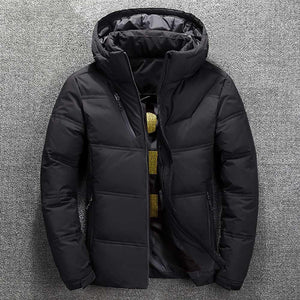2019 Winter New Jacket Mens Quality Thermal Thick Coat Snow <span>Red</span> Black Parka Male Warm Outwear Fashion White Duck Down Jacket Men