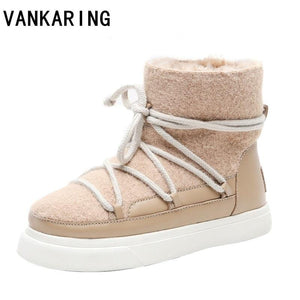 women boots warm fur ankle boots for women snow boots women shoes fashion boots female outdoor casual shoes women flats booties