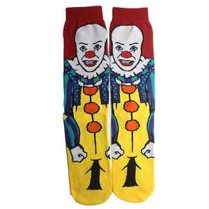 1 pair Ghost It Fashion Men Cotton Socks Clown Famous Horror Movie Socks Unisex Funny Novelty Socks