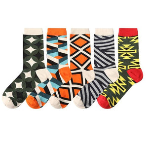 5 pairs New Men Women Cotton Socks Casual Colorful Socks Crew Socks Street Skateboard Socks Happy Funny Harajuku Sox Meias