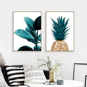 Nordic Pineapple Painting Wall Posters Cuadros Decoracion Posters And Prints Plant Art Poster Canvas Painting No Photo Frame