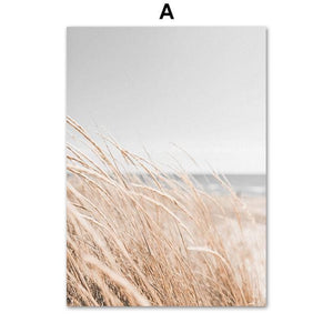 Reeds Wheat House Leaf Nordic Posters And Prints Wall Art Canvas Painting Wall Pictures For Living Room Scandinavian Home Decor