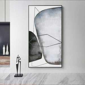 Nordic Minimalist Big Poster n Print Black And White Stone Canvas Painting For Hotel Aisle Living Room Home Decoracion Wall Art