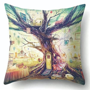 Van Gogh Oil Painting Style Cotton Cushion Cover 45x45cm Pillow Case For Sofa Car Chair Gift Cojines