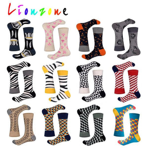 LIONZONE New Arrived Happy Socks With Saury Lobster skeleton Disenador StreetWear Calcetines Casual Crew Socks Funny <span>Gift</span>