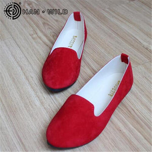 Women's Flats 2019 Women Shoes Candy Color Woman Loafers Spring Autumn Flat Shoes Women Zapatos Mujer Summer Shoes Size 35-43-Shoes-Ultrabasic