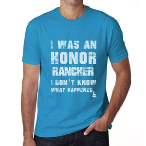 Rancher What Happened Blue Mens Short Sleeve Round Neck T-Shirt Gift T-Shirt 00322 - Blue / S - Casual