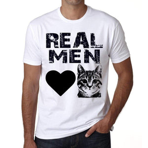 Real Men Love Cats 3 Tshirt Mens Tee White 100% Cotton 00186