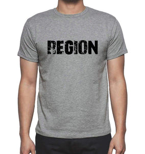 Region Grey Mens Short Sleeve Round Neck T-Shirt 00018 - Grey / S - Casual