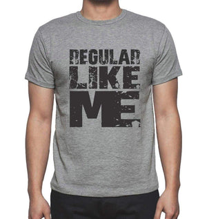 Regular Like Me Grey Mens Short Sleeve Round Neck T-Shirt - Grey / S - Casual