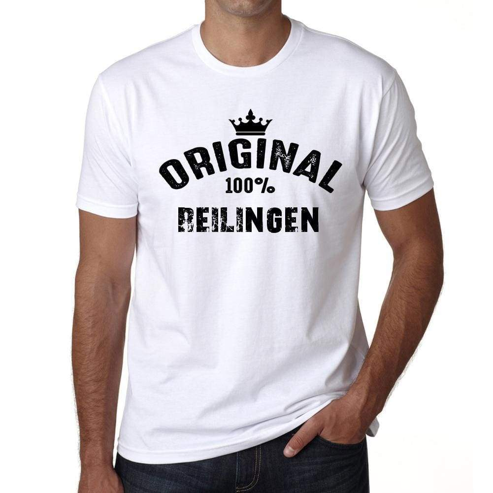 Reilingen 100% German City White Mens Short Sleeve Round Neck T-Shirt 00001 - Casual