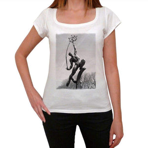Rocket Thrower Womens Short Sleeve Round Neck T-Shirt 00111