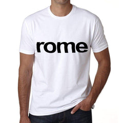 Rome Mens Short Sleeve Round Neck T-Shirt 00047