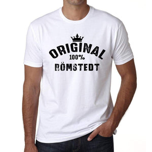 Römstedt 100% German City White Mens Short Sleeve Round Neck T-Shirt 00001 - Casual