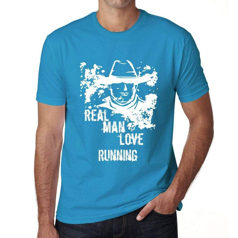 Running Real Men Love Mens T Shirt Blue Birthday Gift 00541