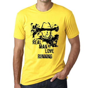 Running Real Men Love Running Mens T Shirt Yellow Birthday Gift 00542 - Yellow / Xs - Casual