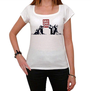 Sale Ends Today Tshirt White Womens T-Shirt 00163