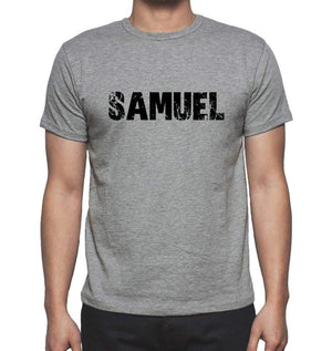 Samuel Grey Mens Short Sleeve Round Neck T-Shirt 00018 - Grey / S - Casual