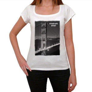San Francisco Golden Gate Bridge Womens Short Sleeve Round Neck T-Shirt 00111