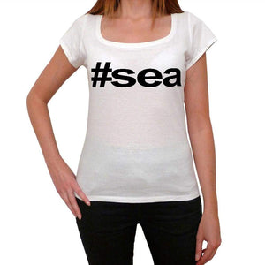 Sea Hashtag Womens Short Sleeve Scoop Neck Tee 00075