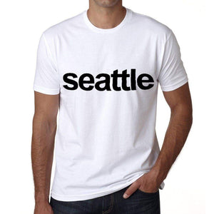 Seattle Mens Short Sleeve Round Neck T-Shirt 00047