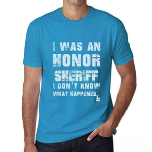 Sheriff What Happened Blue Mens Short Sleeve Round Neck T-Shirt Gift T-Shirt 00322 - Blue / S - Casual