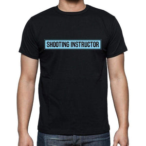 Shooting Instructor T Shirt Mens T-Shirt Occupation S Size Black Cotton - T-Shirt