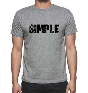 Simple Grey Mens Short Sleeve Round Neck T-Shirt 00018 - Grey / S - Casual