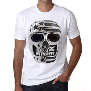 Skull Usa 1 Mens Short Sleeve Round Neck T-Shirt