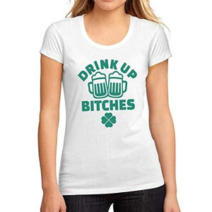 • Women's <span>Graphic</span> T-Shirt St. Patrick's Day Drink Up <span>White</span> Round Neck