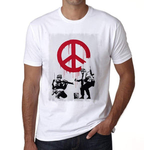 Soldiers Of Peace Mens Tee White 100% Cotton 00164