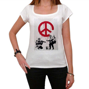 Soldiers Of Peace Tshirt White Womens T-Shirt 00163