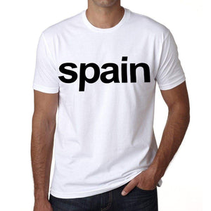 Spain Mens Short Sleeve Round Neck T-Shirt 00067