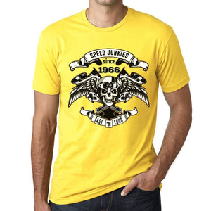 Speed Junkies Since 1966 Mens T-Shirt Yellow Birthday Gift 00465 - Yellow / Xs - Casual