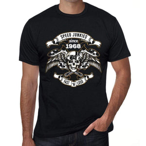 Speed Junkies Since 1968 Mens T-Shirt Black Birthday Gift 00462 - Black / Xs - Casual